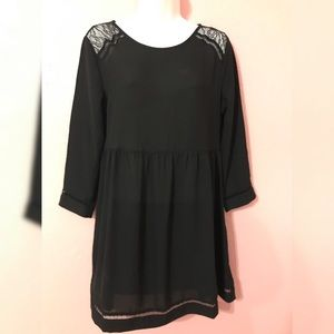 Black with long sleeve dress